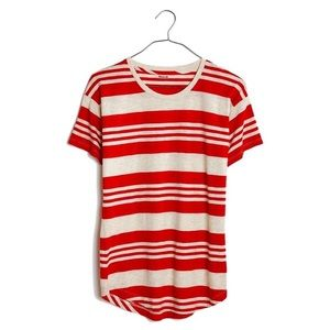 Madewell Whisper Jared Striped Orange T-Shirt